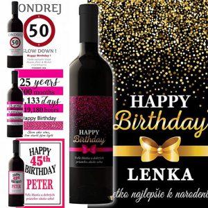 Povedz to vínom - personalizovane