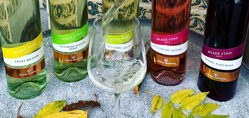 Mladé vína Chateau Topolčianky