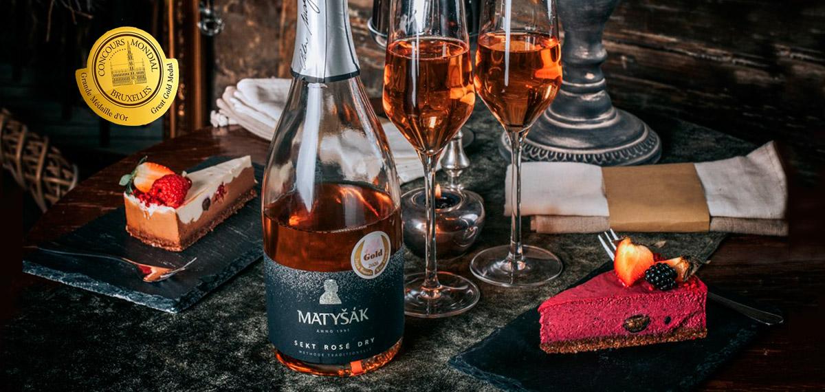 Matyšák - sekt, rosé
