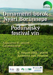 Podunajský festival vín - plagát
